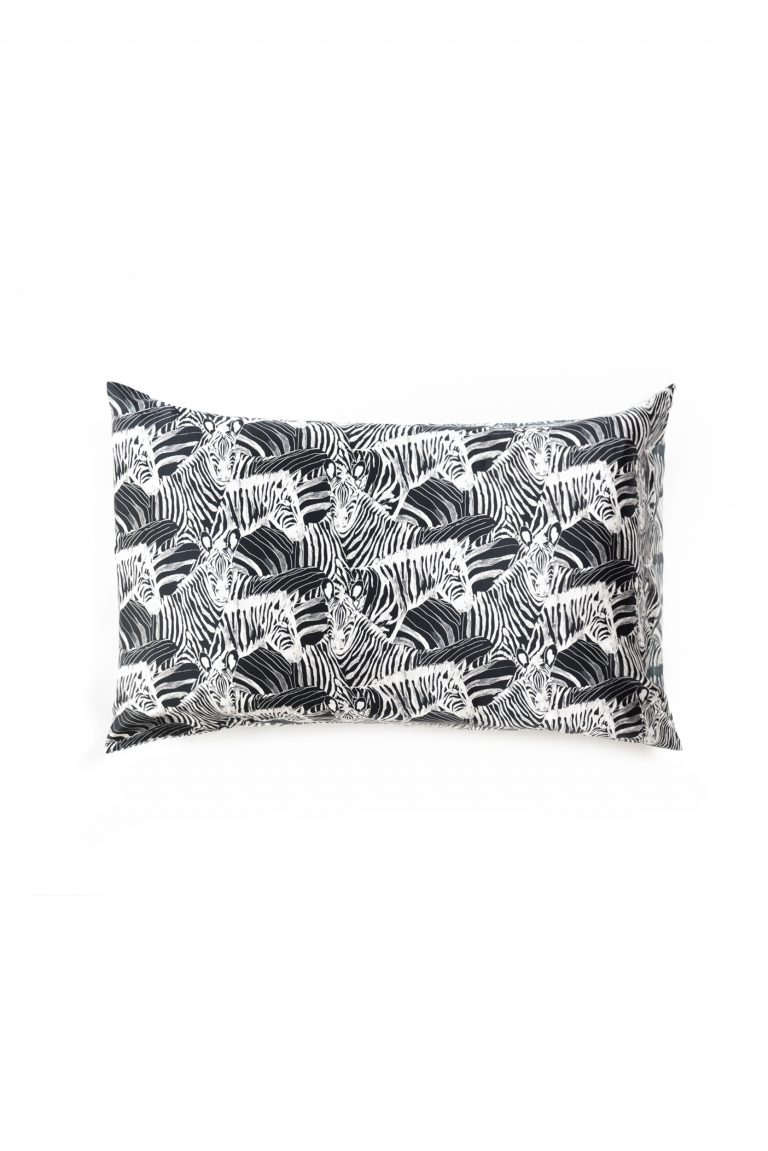 zebra silk pillow case