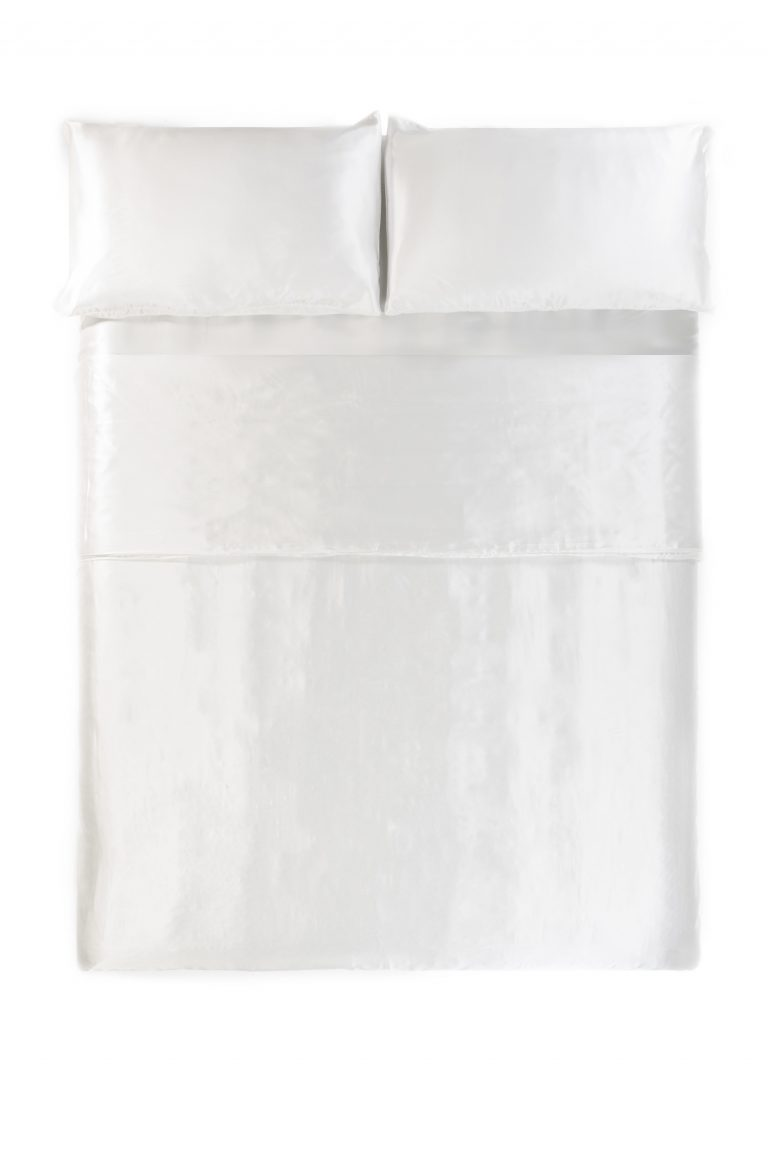 silk white duvet cover