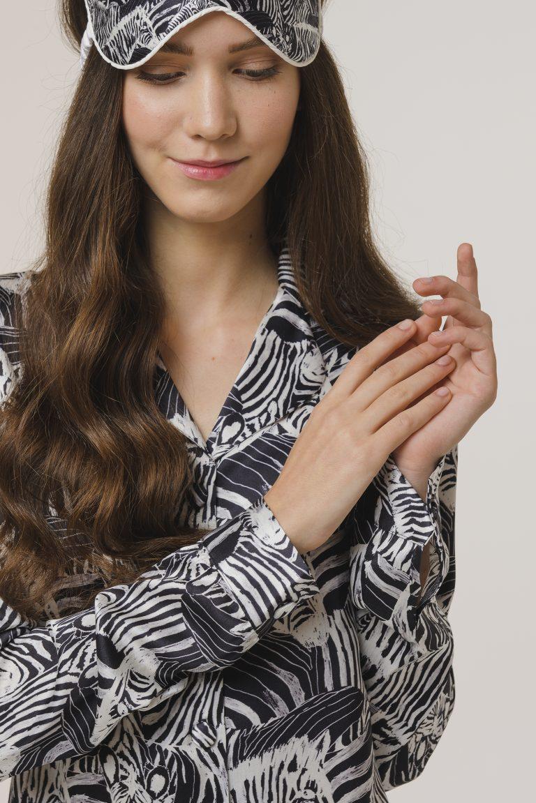 zebra pajamas silk