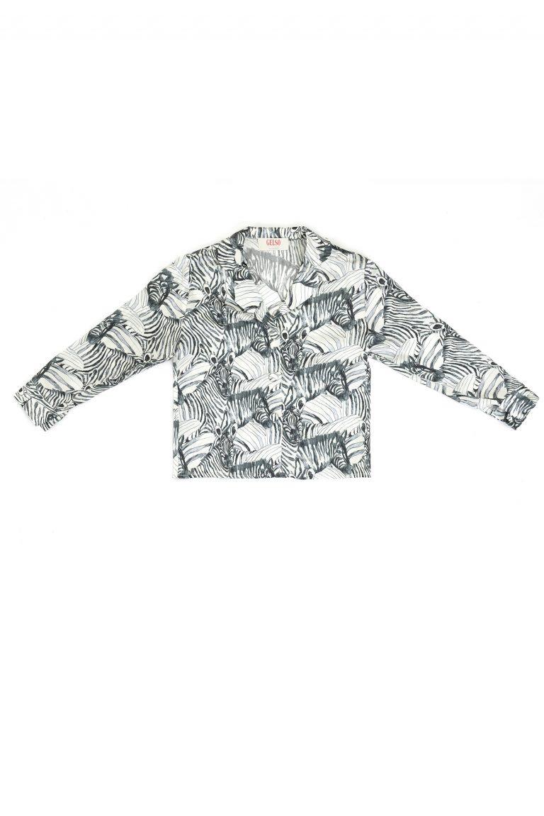 printed silk pajamas